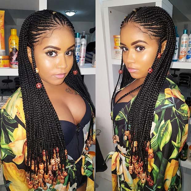 Beaded Fulani Inspired Long Braids