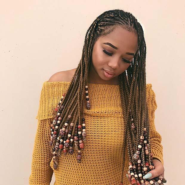 Fulani Braids with Beads