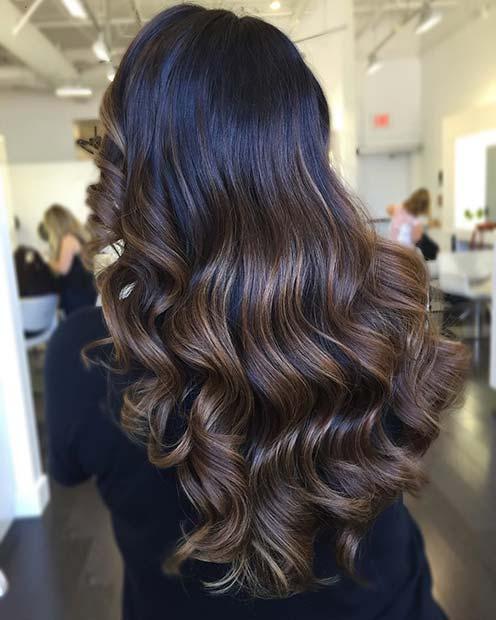 Dark to Medium Brown Hair Color Idea