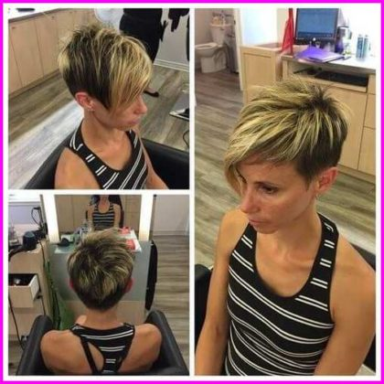 Asymmetrical and Blonde Pixie Cut