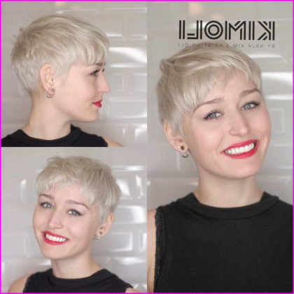 Platinum and Smooth Pixie Cut