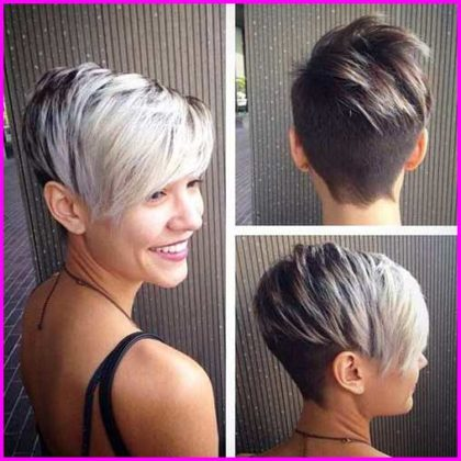 Short and Silver Pixie Cuts
