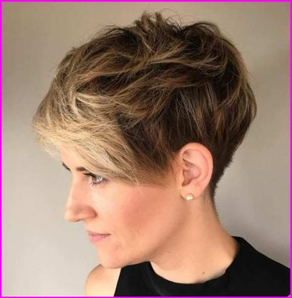 Spiky Short Pixie Cut with Long Bangs