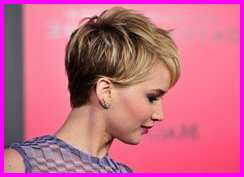 Tucked to the Side Pixie Cut