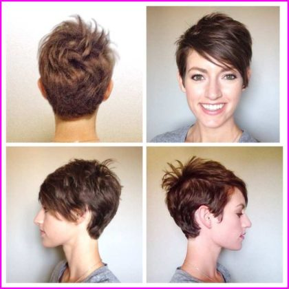 Uneven Short Pixie Cuts with Bangs