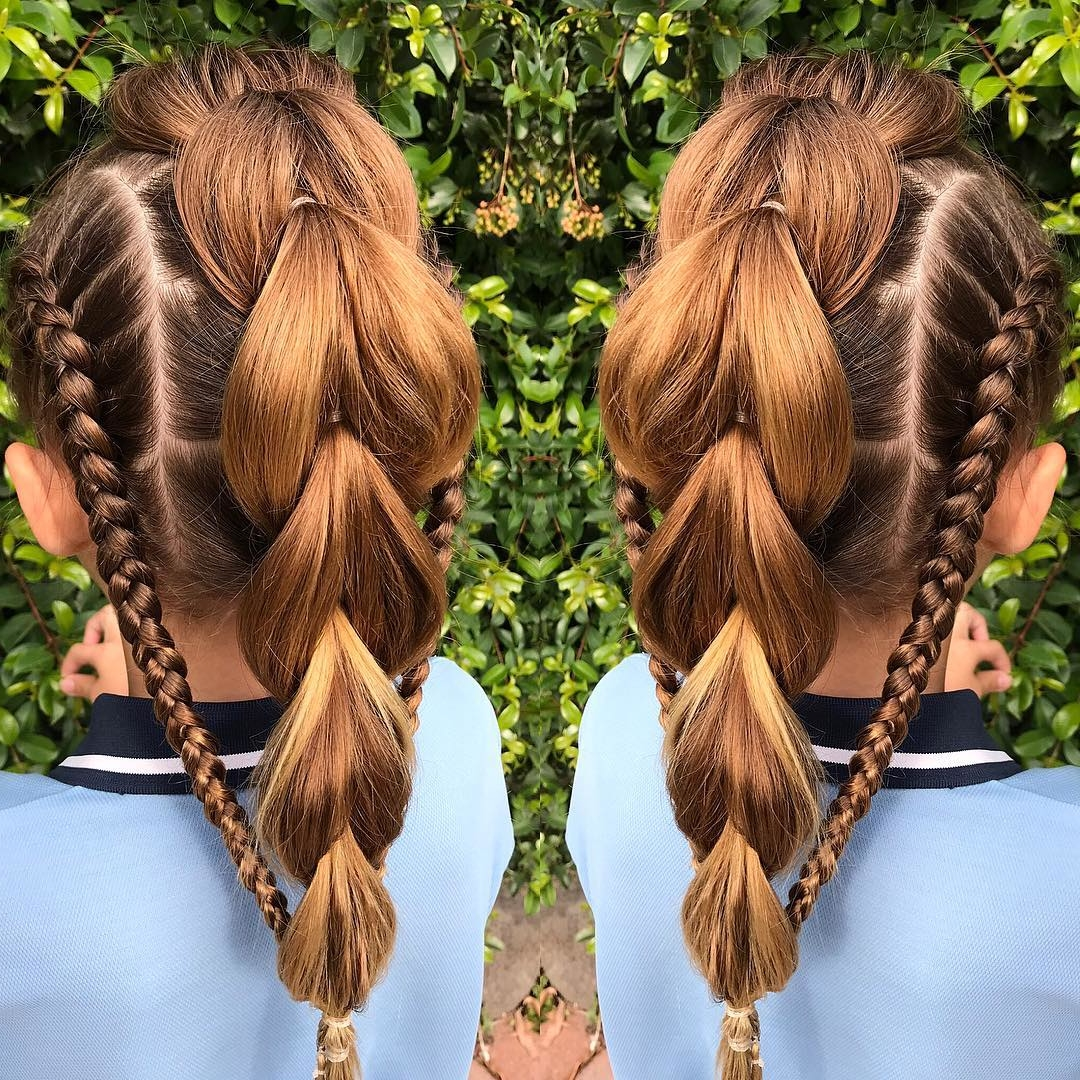 25 Easy Wacky Hairstyles For School Girl