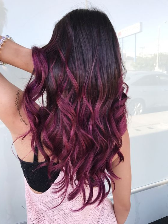 50 Purple Hair Color Ideas for Brunettes You Will Love in ...