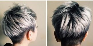Silver Gray Ombre for Short Hair