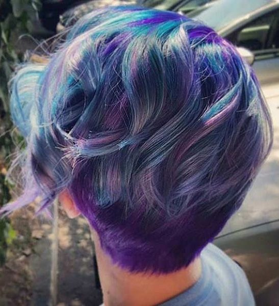 29 Trendsetting Purple Hair Color Ideas for Short Hair for a ...
