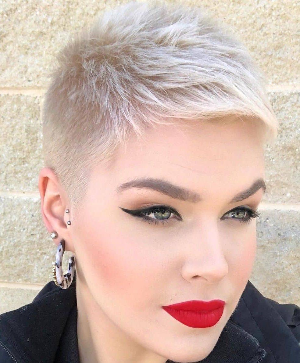 Blonde Very Short Pixie Cut